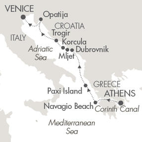 Singles Cruise - Balconies-Suites Cruises Le Lyrial August 16-23 2019 Piraeus, Greece to Venice, Italy