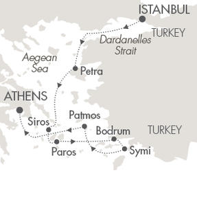 SINGLE Cruise - Balconies-Suites Cruises Le Lyrial August 9-16 2019 Istanbul, Turkey to Piraeus, Greece