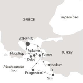 SINGLE Cruise - Balconies-Suites CRUISE Le Lyrial July 19-25 2019 Piraeus, Greece to Nauplion, Greece