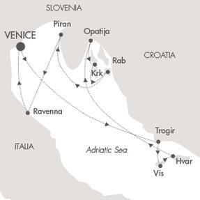 LUXURY CRUISE - Balconies-Suites Cruises Le Lyrial May 17-24 2019 Venice, Italy to Venice, Italy