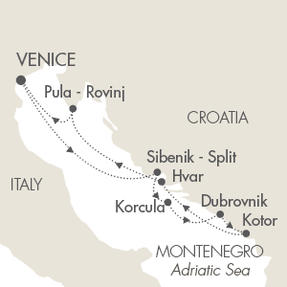 LUXURY CRUISE - Balconies-Suites Cruises Le Lyrial May 31 June 7 2019 Venice, Italy to Venice, Italy