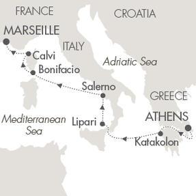 LUXURY CRUISE - Balconies-Suites Cruises Le Lyrial October 18-25 2019 Piraeus, Greece to Marseille, France