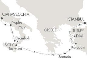 Singles Cruise - Balconies-Suites Cruises Le Lyrial October 4-11 2019 Istanbul, Turkey to Civitavecchia, Italy