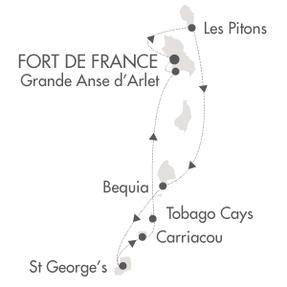 HONEYMOON Le Ponant January 2-9 2020 Fort-de-France, Martinique to Fort-de-France, Martinique