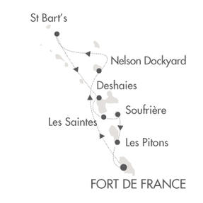 HONEYMOON Le Ponant January 9-16 2023 Fort-de-France, Martinique to Fort-de-France, Martinique