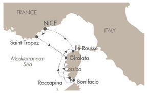 Cruises Le Ponant July 18-25 2020 Nice, France to Nice, France