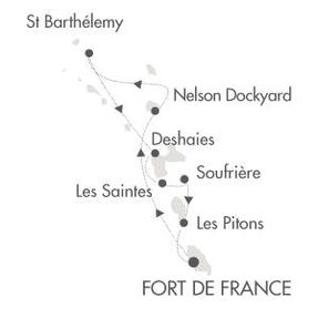Cruises Le Ponant March 19-26 2016 Fort-de-France, Martinique to Fort-de-France, Martinique
