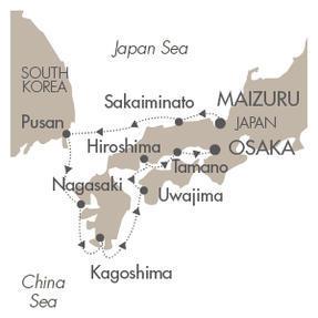 World CRUISE SHIP BIDS Le Soleal April 14-22 2023 Maizuru, Japan to Osaka, Japan