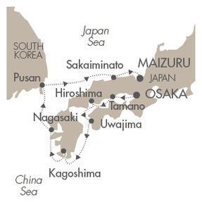 World CRUISE SHIP BIDS Le Soleal April 6-14 2023 Osaka, Japan to Maizuru, Japan