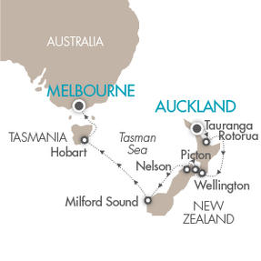 Singles Cruise - Balconies-Suites Cruises Le Soleal January 25 February 6 2019 Auckland, New Zealand to Melbourne, Australia