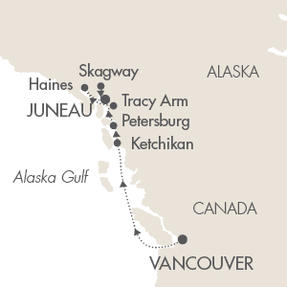 World CRUISE SHIP BIDS Le Soleal July 2-9 2023 Vancouver, Canada to Juneau, AK, United States