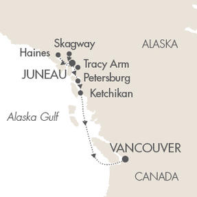 LUXURY CRUISE - Balconies-Suites Cruises Le Soleal June 25 July 2 2019 Juneau, AK, United States to Vancouver, Canada