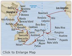 Singles Cruise - Balconies-Suites Oceania Insignia April 3 June 15 2019 Shanghai, China to Los Angeles (Long Beach), CA