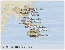 SINGLE Cruise - Balconies-Suites Oceania Insignia April 3 May 9 2019 Shanghai, China to Sydney, Australia