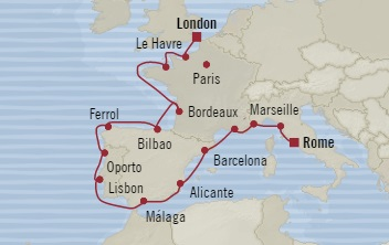 HONEYMOON Oceania Insignia August 9-28 2020 Dover, United Kingdom to Civitavecchia, Italy