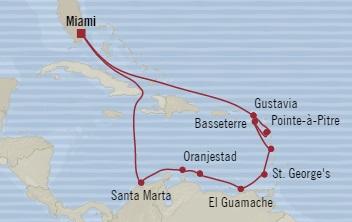 Singles Cruise - Balconies-Suites Oceania Insignia December 23 2019 January 6 2020 Miami, FL, United States to Miami, FL, United States