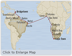 Singles Cruise - Balconies-Suites Oceania Insignia January 14 February 9 2019 Bridgetown, Barbados to Cape Town, South Africa