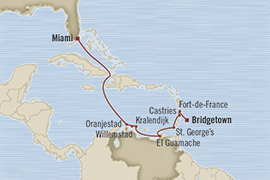 Singles Cruise - Balconies-Suites Oceania Insignia January 4-14 2019 Miami, FL, United States to Bridgetown, Barbados