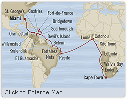 SINGLE Cruise - Balconies-Suites Oceania Insignia January 4 February 9 2019 Miami, FL, United States to Cape Town, South Africa