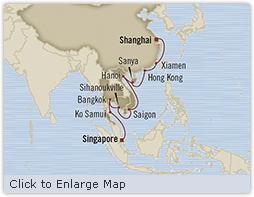 LUXURY CRUISE - Balconies-Suites Oceania Insignia March 15 April 3 2019 Singapore, Singapore to Shanghai, China