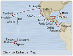 Singles Cruise - Balconies-Suites Oceania Insignia May 28 July 1 2019 Papeete, French Polynesia to Miami, FL, United States