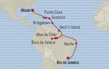 LUXURY CRUISE - Balconies-Suites Oceania Insignia November 19 December 11 2019 Rio De Janeiro, Brazil to Miami, FL, United States