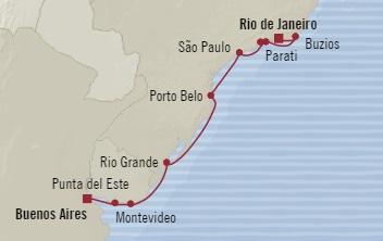 Singles Cruise - Balconies-Suites Oceania Insignia November 7-19 2019 Buenos Aires, Argentina to Rio De Janeiro, Brazil