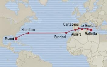 Singles Cruise - Balconies-Suites Oceania Insignia September 12-29 2019 Valletta, Malta to Miami, FL