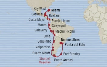 LUXURY CRUISES - Penthouse, Veranda, Balconies, Windows and Suites Oceania Insignia September 26 November 7 2022 Miami, FL, United States to Buenos Aires, Argentina