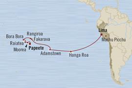 LUXURY CRUISE - Balconies-Suites Oceania Marina April 11-28 2019 Papeete, French Polynesia to Callao, Peru