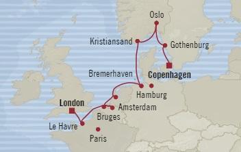 Singles Cruise - Balconies-Suites Oceania Marina August 15-26 2019 Southampton, United Kingdom to Copenhagen, Denmark