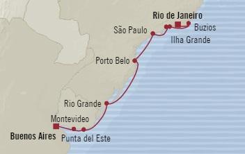Singles Cruise - Balconies-Suites Oceania Marina December 7-19 2019 Rio De Janeiro, Brazil to Buenos Aires, Argentina