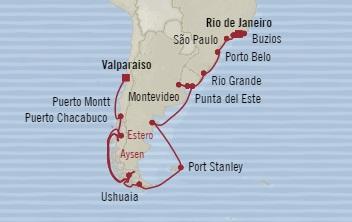 Singles Cruise - Balconies-Suites Oceania Marina December 7 2019 January 5 2020 Rio De Janeiro, Brazil to Valparaíso, Chile