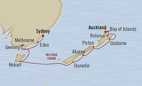 LUXURY CRUISE - Balconies-Suites Oceania Marina February 23 March 9 2019 Sydney, Australia to Auckland, New Zealand