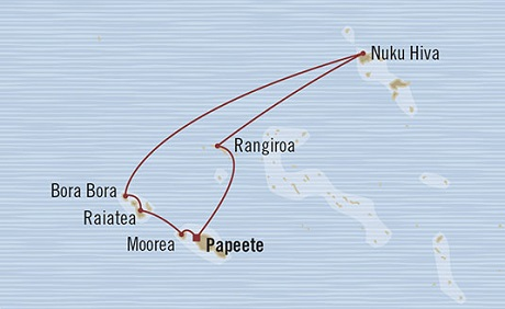 Singles Cruise - Balconies-Suites Oceania Marina January 25 February 4 2019 Papeete, French Polynesia to Papeete, French Polynesia