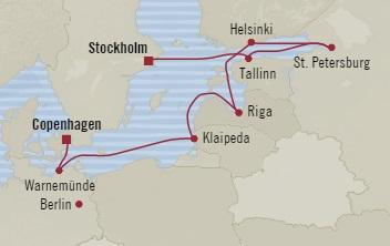 Singles Cruise - Balconies-Suites Oceania Marina July 13-23 2019 Copenhagen, Denmark to Stockholm, Sweden