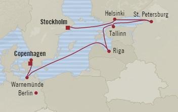 Singles Cruise - Balconies-Suites Oceania Marina June 24 July 3 2019 Copenhagen, Denmark to Stockholm, Sweden