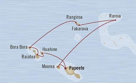LUXURY CRUISE - Balconies-Suites Oceania Marina March 25 April 4 2019 Papeete, French Polynesia to Papeete, French Polynesia
