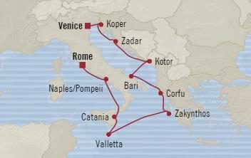 LUXURY CRUISE - Balconies-Suites Oceania Marina November 1-11 2019 Venice, Italy to Civitavecchia, Italy