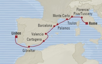 SINGLE Cruise - Balconies-Suites Oceania Marina November 11-21 2019 Civitavecchia, Italy to Lisbon, Portugal