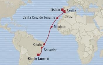 Singles Cruise - Balconies-Suites Oceania Marina November 21 December 7 2019 Lisbon, Portugal to Rio De Janeiro, Brazil