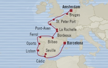 SINGLE Cruise - Balconies-Suites Oceania Marina September 15-27 2019 Amsterdam, Netherlands to Barcelona, Spain