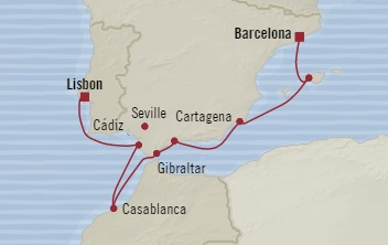 SINGLE Cruise - Balconies-Suites Oceania Marina September 27 October 5 2019 Barcelona, Spain to Lisbon, Portugal