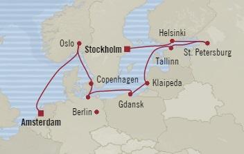 Singles Cruise - Balconies-Suites Oceania Marina September 3-15 2019 Stockholm, Sweden to Amsterdam, Netherlands