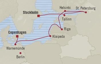 Singles Cruise - Balconies-Suites Oceania Nautica August 18-28 2019 Stockholm, Sweden to Copenhagen, Denmark