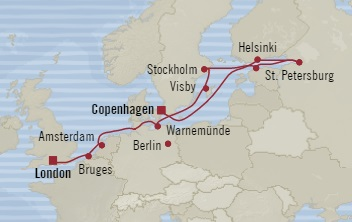 Singles Cruise - Balconies-Suites Oceania Nautica August 28 September 9 2019 Copenhagen, Denmark to Southampton, United Kingdom