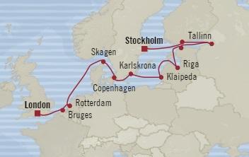 HONEYMOON Oceania Nautica August 4-18 2020 Southampton, United Kingdom to Stockholm, Sweden