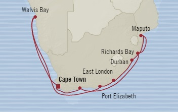 LUXURY CRUISE - Balconies-Suites Oceania Nautica December 21 2019 January 5 2020 Cape Town, South Africa to Cape Town, South Africa