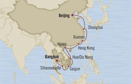 Singles Cruise - Balconies-Suites Oceania Nautica February 13 March 4 2019 Laem Chabang, Thailand to Tianjin, China