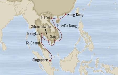 Singles Cruise - Balconies-Suites Oceania Nautica January 8-24 2019 Singapore, Singapore to Hong Kong, Hong Kong
